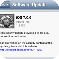 Apple Releases iOS 7.0.6 To Fix SSL Connection Verification - Jailbreakers Stay Away For Now