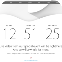 Apple's Homepage Redirects to a Countdown 09/09/14 Live Press Event