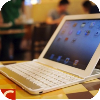 Turn Your iPad 2 Into MacBook Air [Sort of]  - Aluminium KeyBoard Case for iPad 2