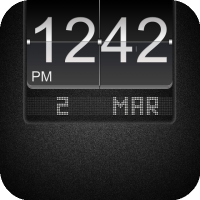 LS Black Big Flip Clock [LockScreen Theme]