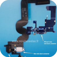Photo of 'iPad Mini' Dock Connector Flex Cable with Headphone Jack at Bottom