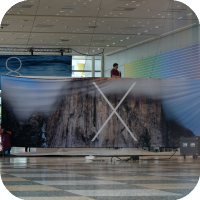 Apple Puts Up First OS X 10.10 Banner - Featuring Yosemite National Park [Image]