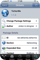 TetherMe - Enables Tethering on your iPhone