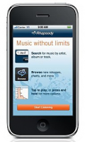 Rhapsody's iPhone App Hits The AppStore!