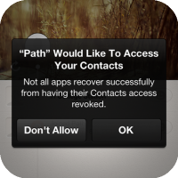 ContactPrivacy Tweak : Warns You Every Time An App Wants To Access To Your PhoneBook