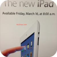 The new iPad: Available Friday 8:00am March 16th