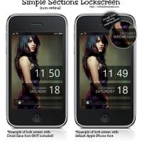 Simple Sections LockScreen