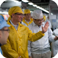 Tim Cook Visits Foxconn's New iPhone Manufacturing Facility